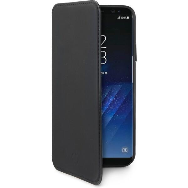 Pouzdro Celly Prestige Samsung Galaxy S8 Plus Černá