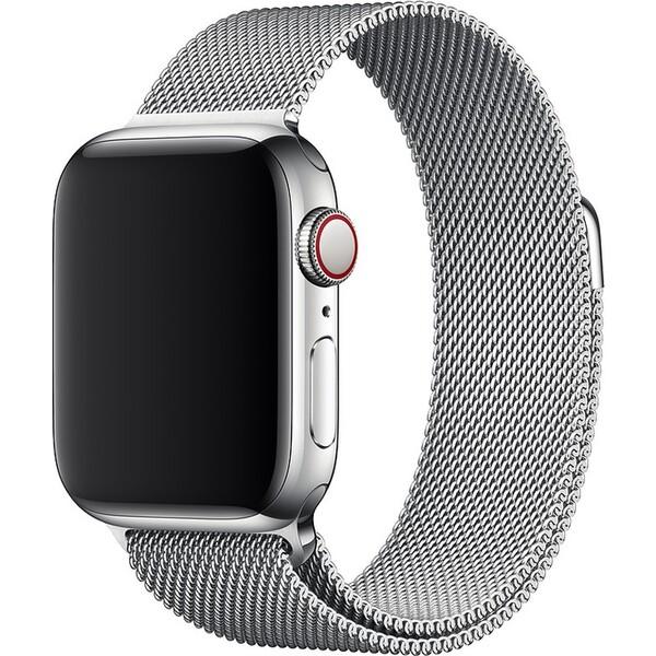 Apple Watch 44mm Stříbrný Milánská Tah Stříbrná