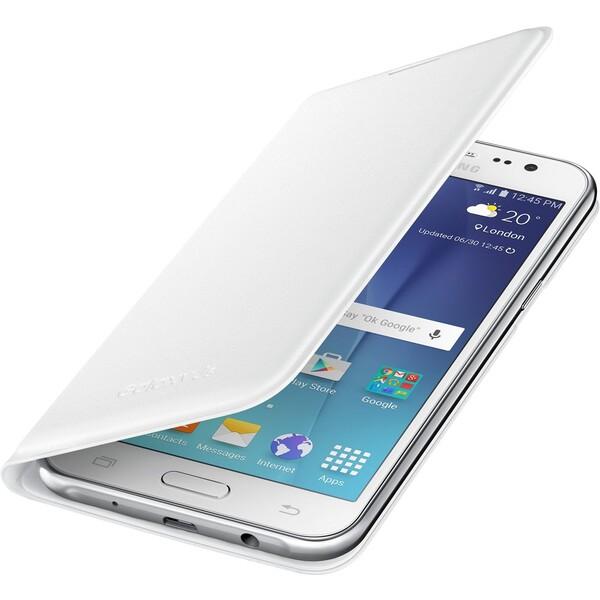 Samsung EF-WJ500BW flip pouzdro Galaxy J5 bílé
