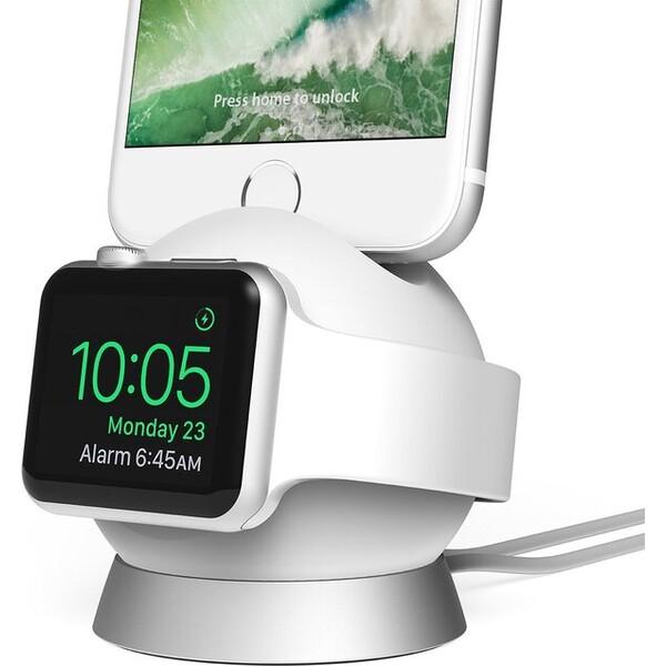 iOttie OmniBolt nabíjecí stojánek Apple Watch/iPhone bílý