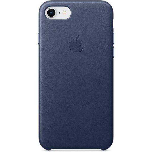 Pouzdro Apple Leather Case iPhone 8/7 - půlnočně modré Půlnočně modrá