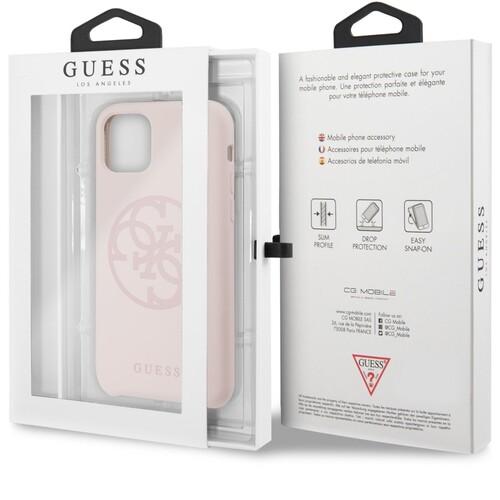 Guess 4G Tone on Tone GUHCN61LS4GLP kryt iPhone 11 světle růžový