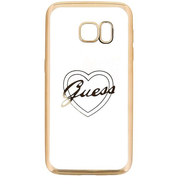 Pouzdro Guess Heart TPU Samsung G930 Galaxy S7 Zlatá