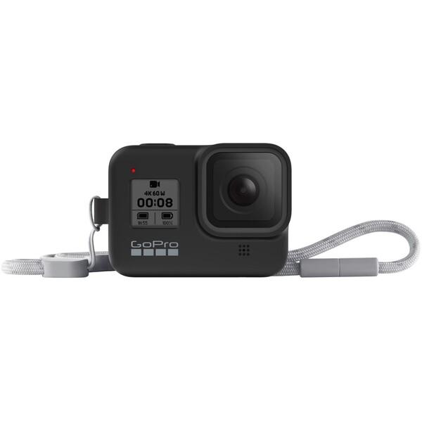 GoPro silikonové pouzdro + šňůrka (HERO8 Black) černé