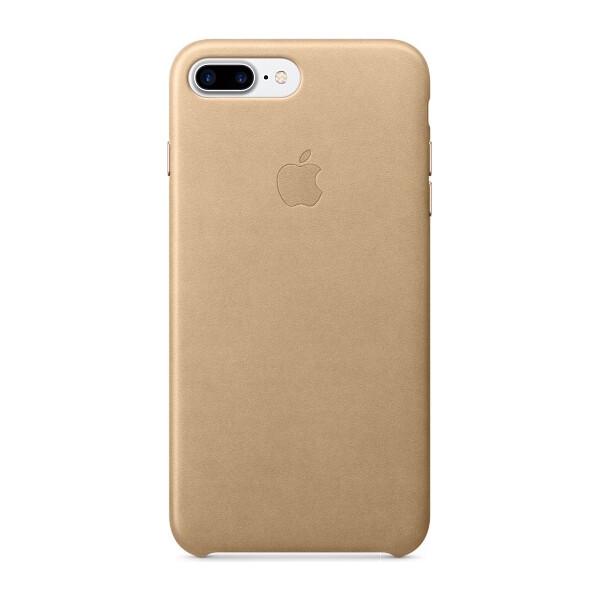Pouzdro mobilní telefon APPLE iPhone 7 Plus Kožené kryt žlutohnědé MMYL2ZM/A Žlutá