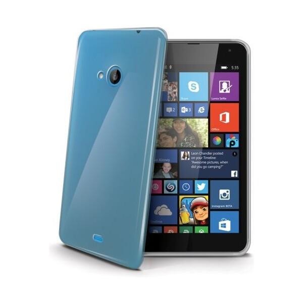 Pouzdro CELLY Gelskin Nokia Lumia 535 čiré Čirá