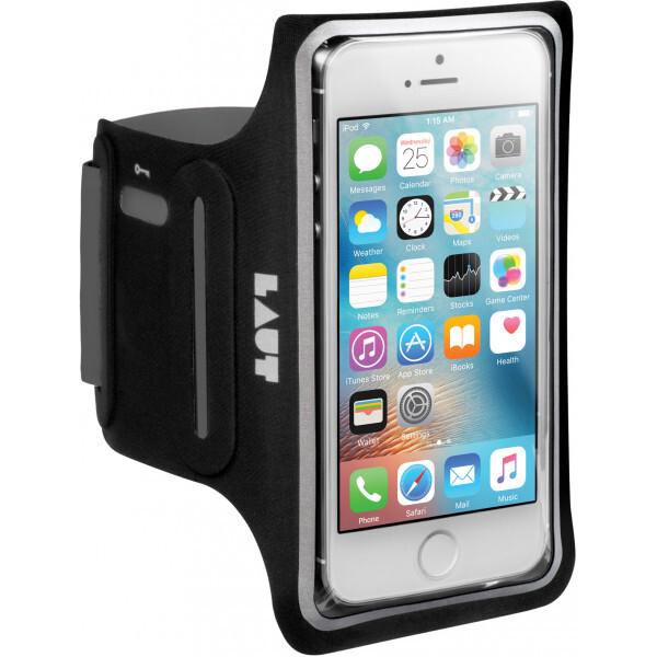 Pouzdro LAUT Slim armband neoprene pro iPhone 5/5S/SE - černé Černá