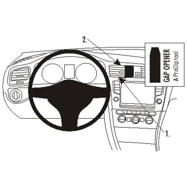 Brodit ProClip montážní konzole pro ProClip - Volkswagen Golf VII 13-13 (střed)