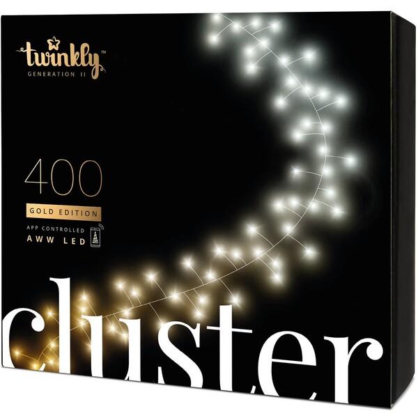 Twinkly Cluster Gold Edition chytrý řetěz se žárovkami 400 ks