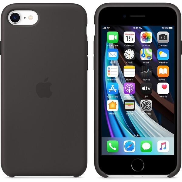 Apple silikonový kryt iPhone SE (2020) černý