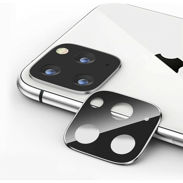 COTEetCI sklíčko na kameru Apple iPhone 11 Pro/Pro Max stříbrné