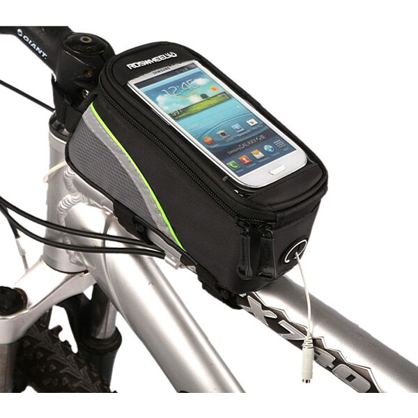 Roswheel voděodolná brašna na kolo pro telefony do (160x85) černá/šedá