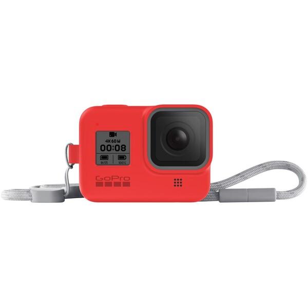 GoPro silikonové pouzdro + šňůrka (HERO8 Black) červené