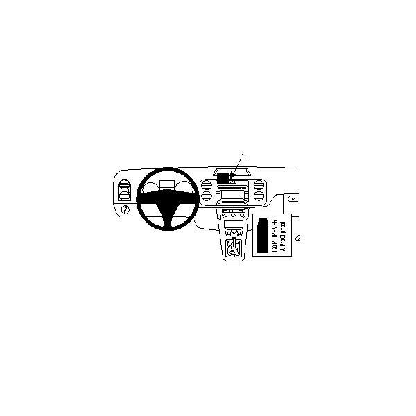 Brodit ProClip montážní konzole pro Volkswagen Tiguan 08- pro Evropu 09- pro USA