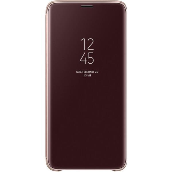 Samsung flipové pouzdro Clear View se stojánkem Samsung Galaxy S9+ zlaté EF-ZG965CFEGWW Zlatá