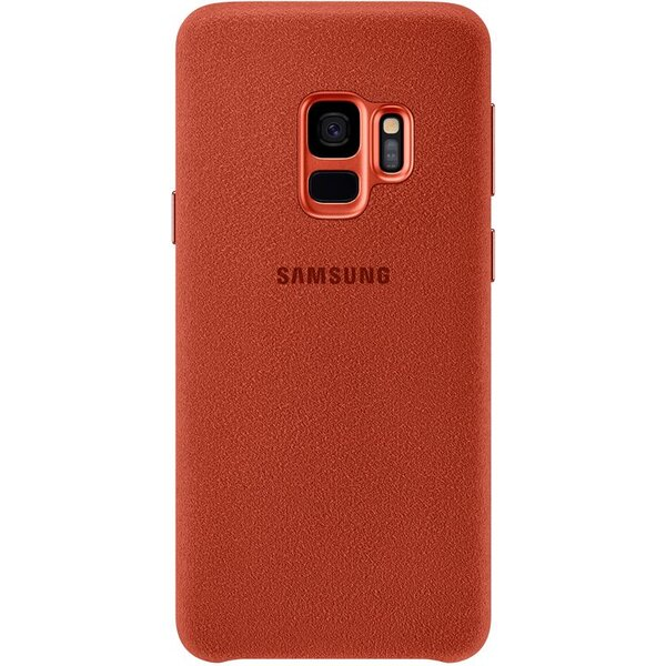 Samsung zadní kryt z kůže Alcantara Samsung Galaxy S9 červené EF-XG960AREGWW Červená