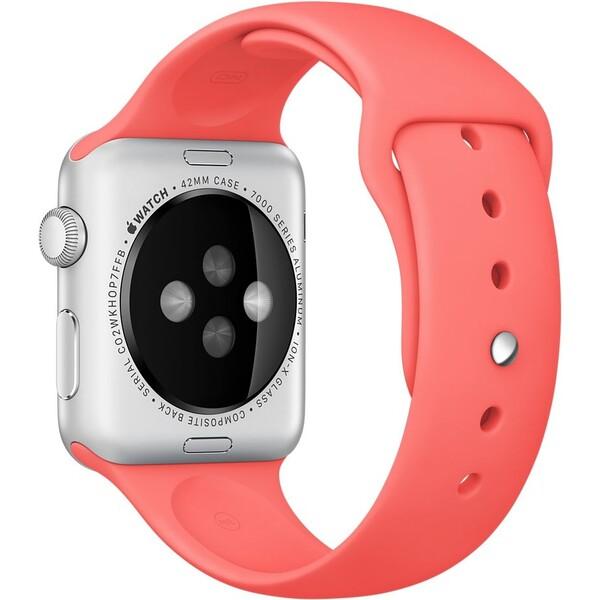 Apple Watch sportovní řemínek 42mm růžový