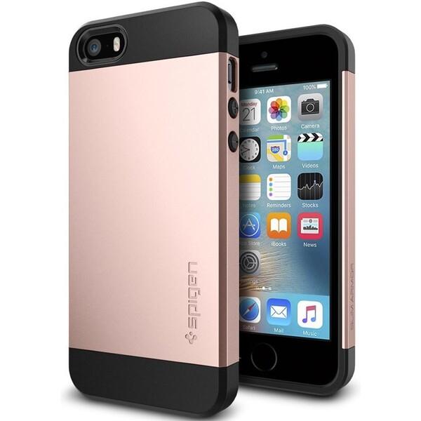 Kryt Spigen Slim Armor, rose gold - iPhone SE / 5s / 5 (041CS20176) Růžová