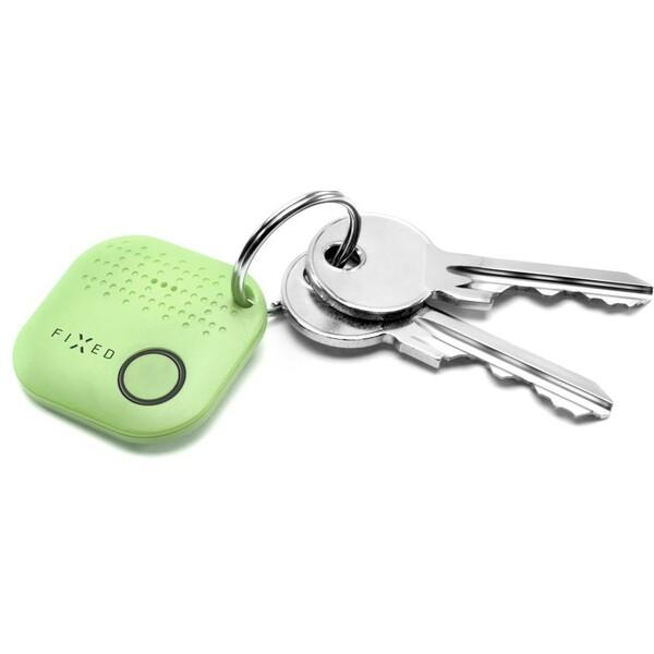 Přívěsek na klíče Key finder Fixed Smile zelený Zelená