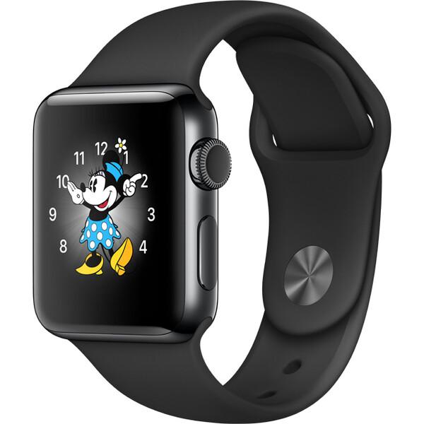 Apple Watch Series 2 38mm vesmírně černá nerezová ocel s černým sportovním řemínkem (2016)