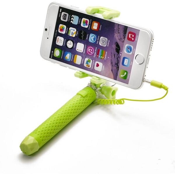 Bluetooth selfie stick CELLY Mini, zelená Modrá