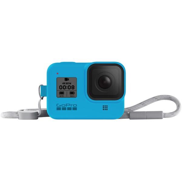 GoPro silikonové pouzdro + šňůrka (HERO8 Black) modré