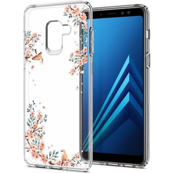 Spigen Liquid Crystal Blossom kryt Samsung Galaxy A8 (2018) čirý