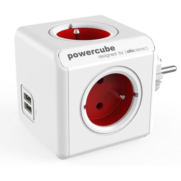 PowerCube Original USB zásuvka červená