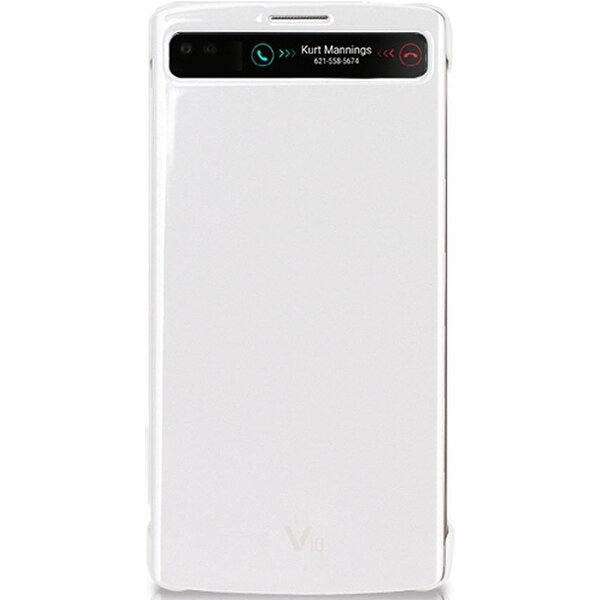 LG CFV-140 flip pouzdro QuickCircle LG V10 bílé
