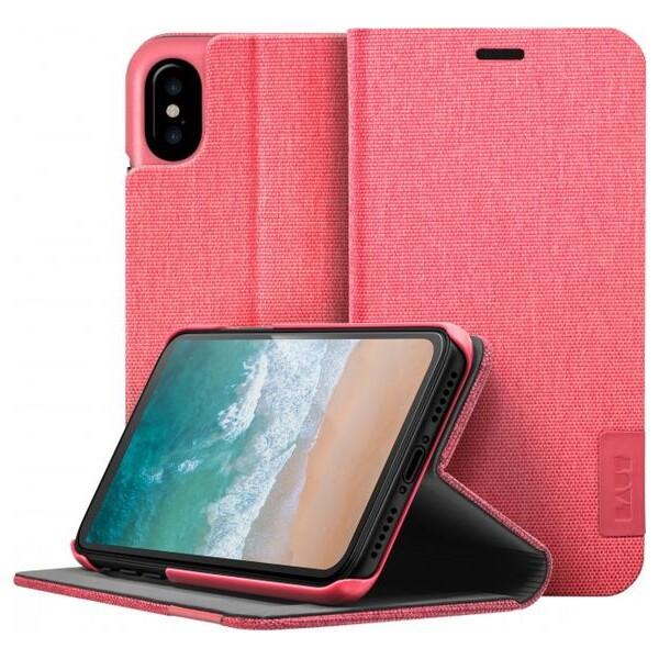 LAUT Apex Knit case pro iPhone X - Coral Růžová