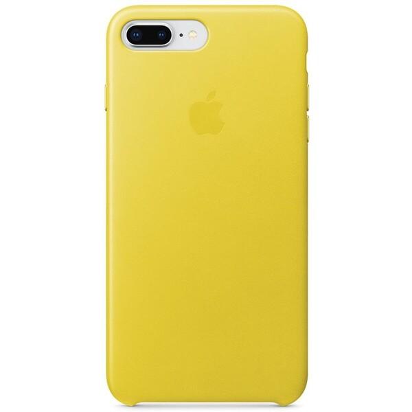 Pouzdro Apple iPhone 8 Plus / 7 Plus Leather Case - jarně žluté Jarně žlutá