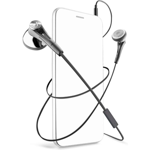 CellularLine FIREFLY sluchátka plochý kabel černé
