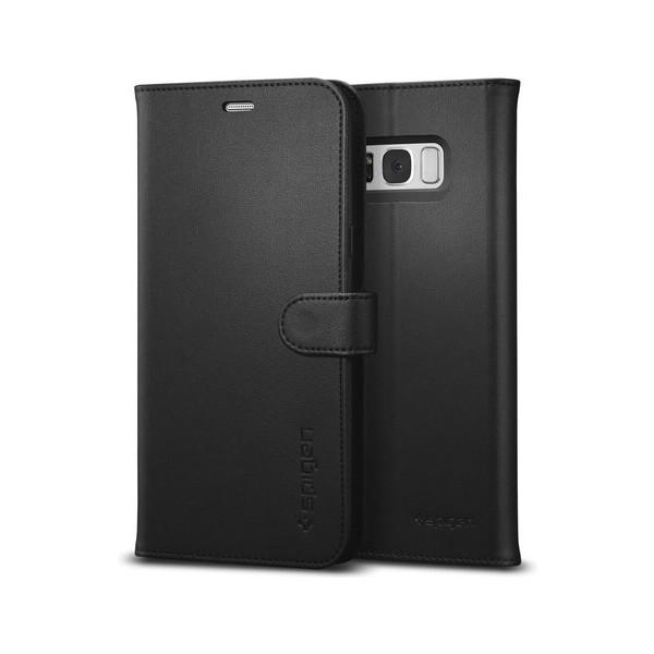 Spigen Wallet S kožené pouzdro Samsung Galaxy S8+ černé