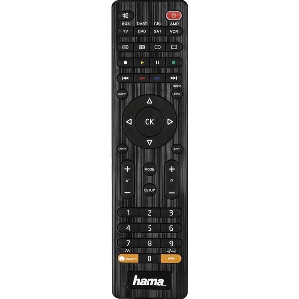 Dálkový ovladač Hama 8v1 Smart TV Černá