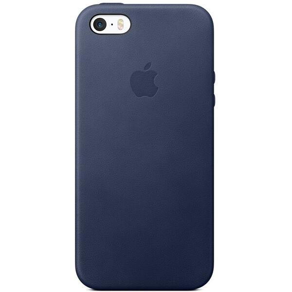 Apple iPhone 5S/SE Leather Case zadní kryt půlnočně modrý