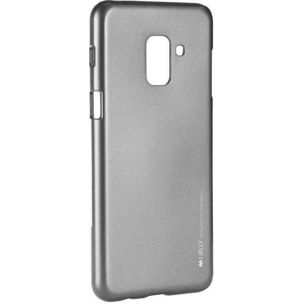 Pouzdro Mercury i-Jelly Samsung Galaxy A8 2018 Šedá