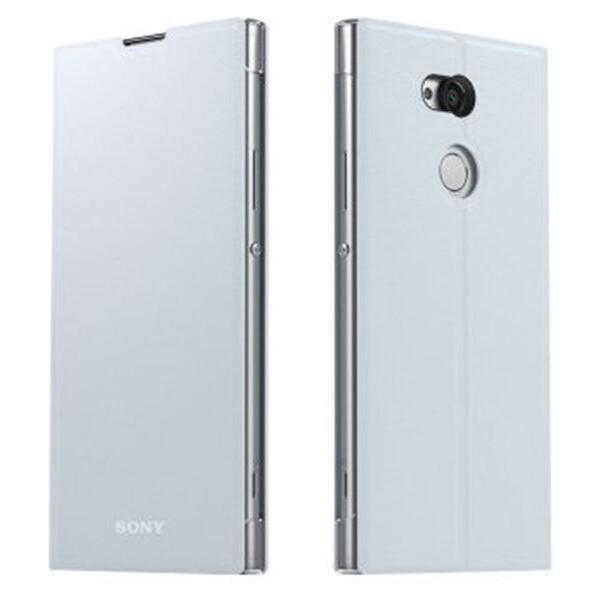 Pouzdro SCSH10 Sony Style Cover Flip Xperia XA2 stříbrné Stříbrná