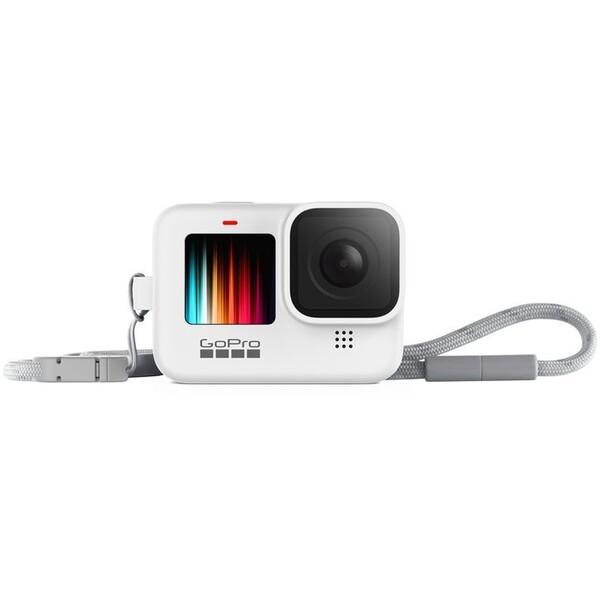 GoPro silikonové pouzdro + šnůrka HERO9 bílé