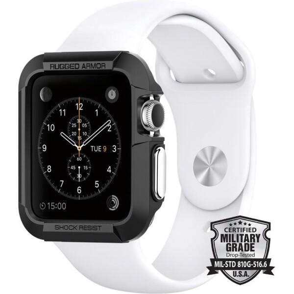 Spigen Rugged Armor kryt Apple Watch 42mm černý