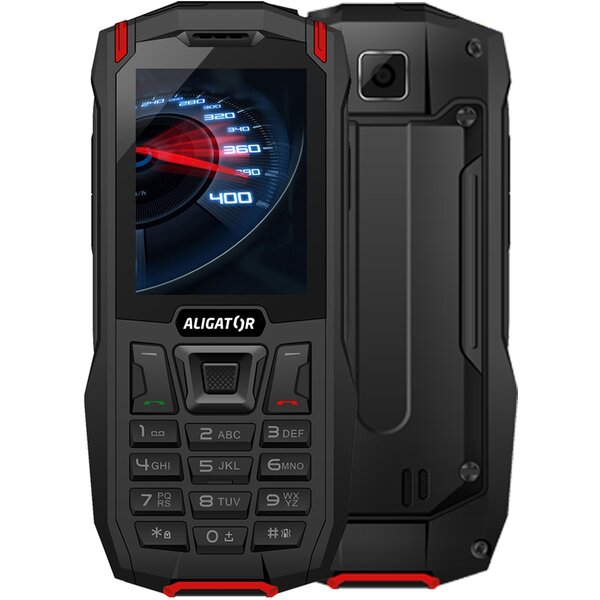 Aligator K50 eXtremo černočervený
