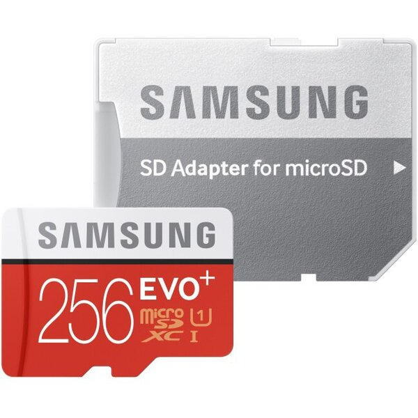 Samsung EVO+ microSDXC 256GB UHS-I + adapter MB-MC256DA/EU Červená