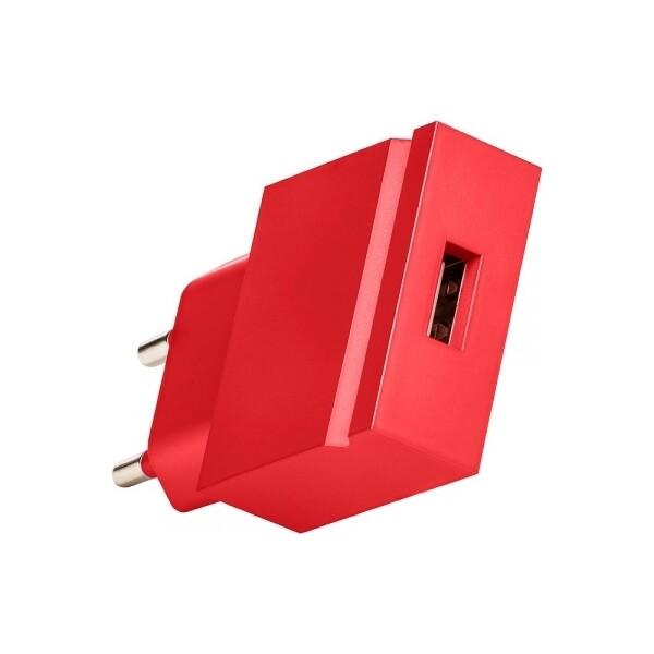 USBEPOWER POP cestovní nabíječka USB 1A červená