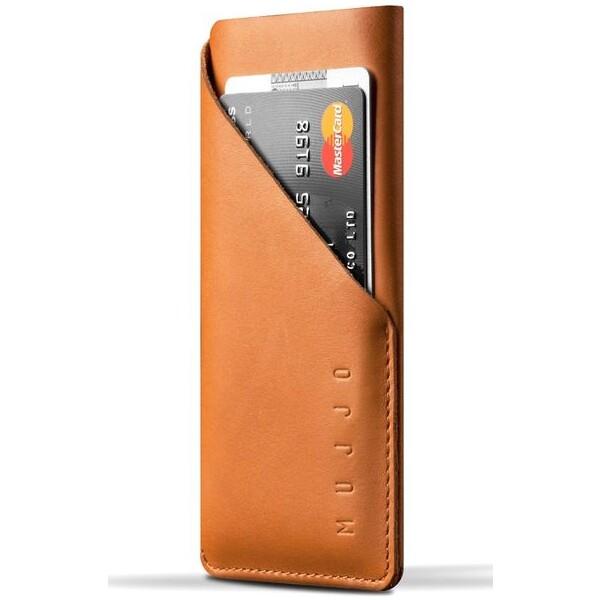 Pouzdro MUJJO Leather Wallet Sleeve iPhone 8 / 7 - žlutohnědé Žlutohnědá