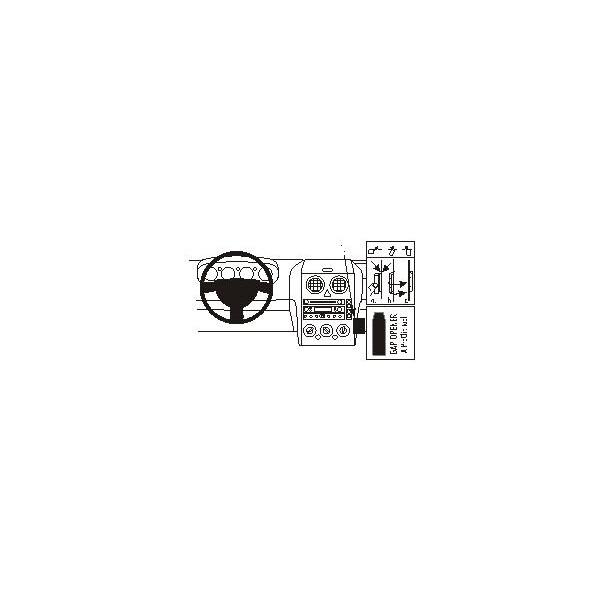 Brodit ProClip montážní konzole pro Ford Fusion 03-05