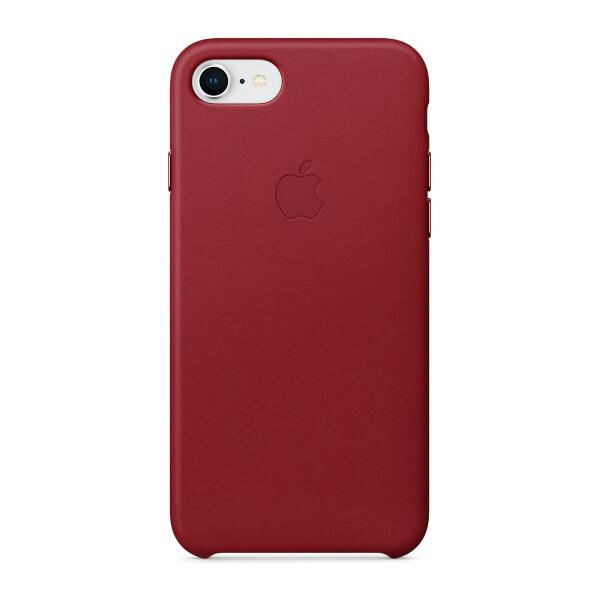 Pouzdro Apple Leather Case iPhone 8/7 červené Červená