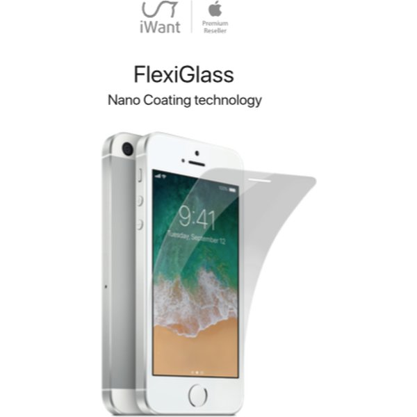 iWant FlexiGlass 2.5D tvrzené sklo 0,2mm / tvrdost 9H Apple iPhone SE/5S/5 Čirá