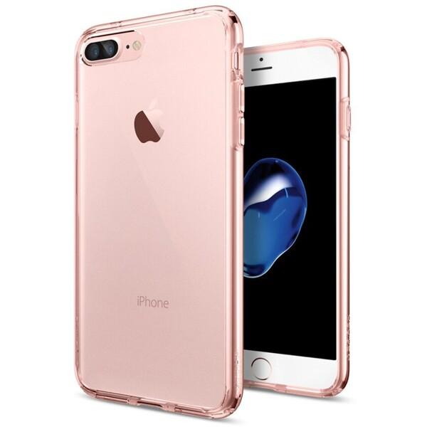 Pouzdro Spigen Ultra Hybrid iPhone 7+ rose crystal Růžová