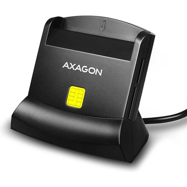 AXAGON CRESM2 USB externí čtečka 4slot Smart card/ID card + SD/microSD/SIM