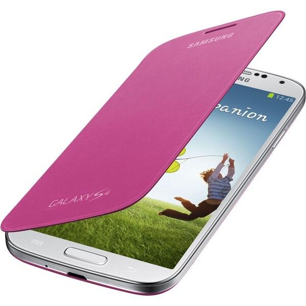 Samsung EF-FI950BP flip pouzdro Galaxy S4 růžový