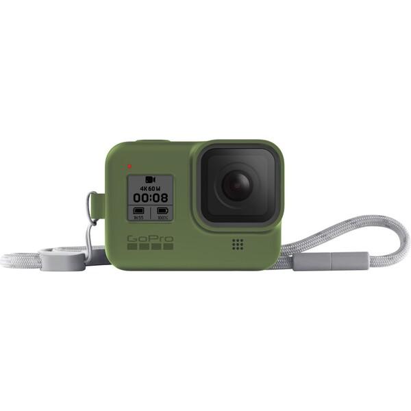 GoPro silikonové pouzdro + šňůrka (HERO8 Black) zelené
